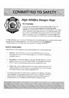 High Wildfire Danger Days